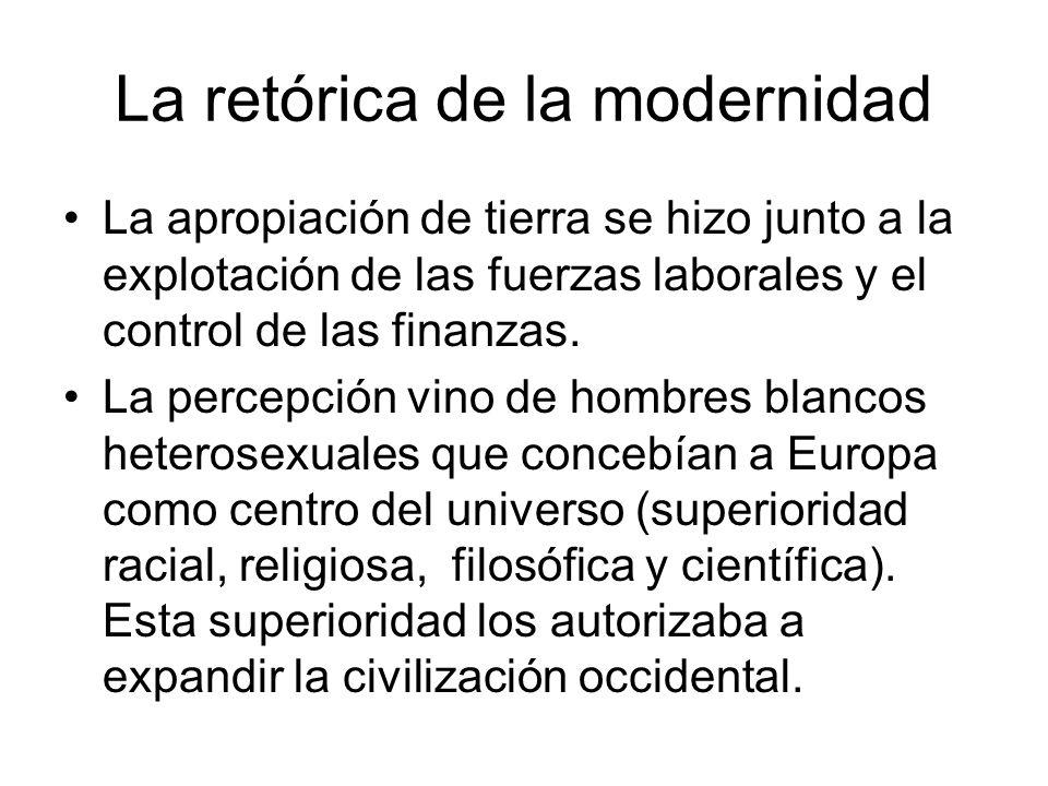 La retórica de la modernidad