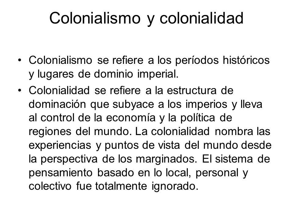 Colonialismo y colonialidad