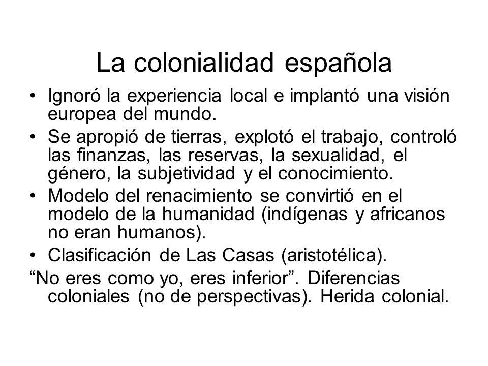 La colonialidad española