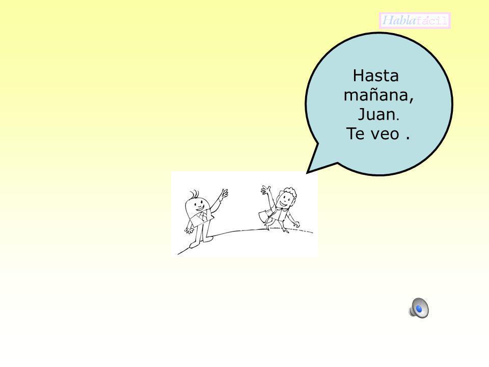 Hasta mañana, Juan. Te veo .