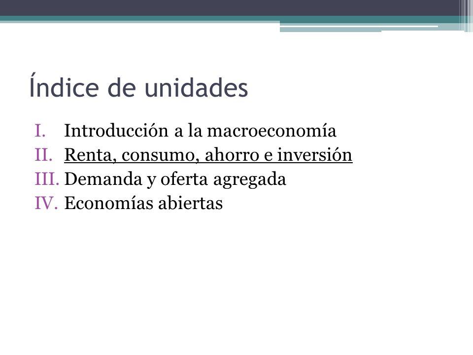 Índice de unidades Introducción a la macroeconomía