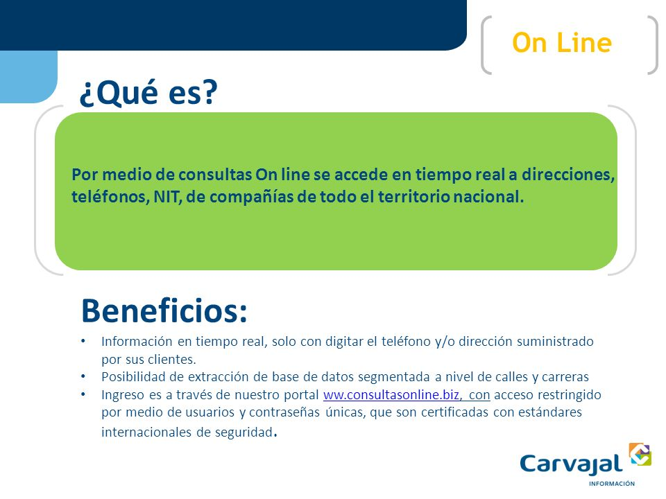 ¿Qué es Beneficios: On Line