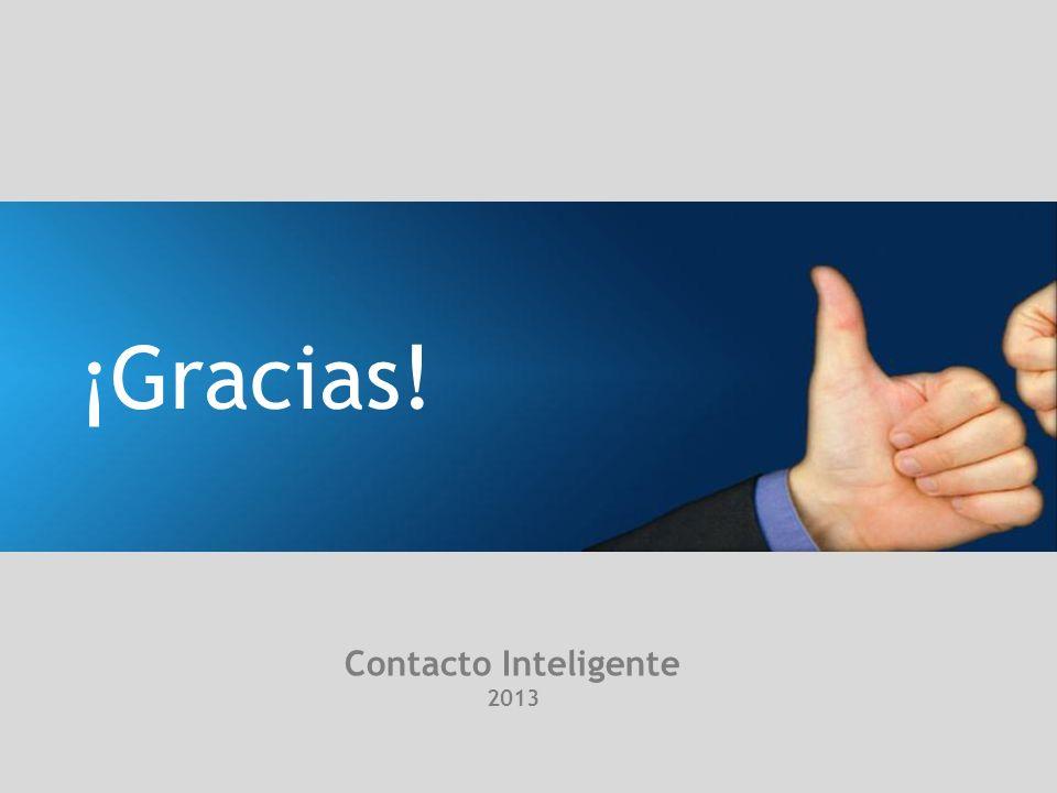 ¡Gracias! Contacto Inteligente 2013