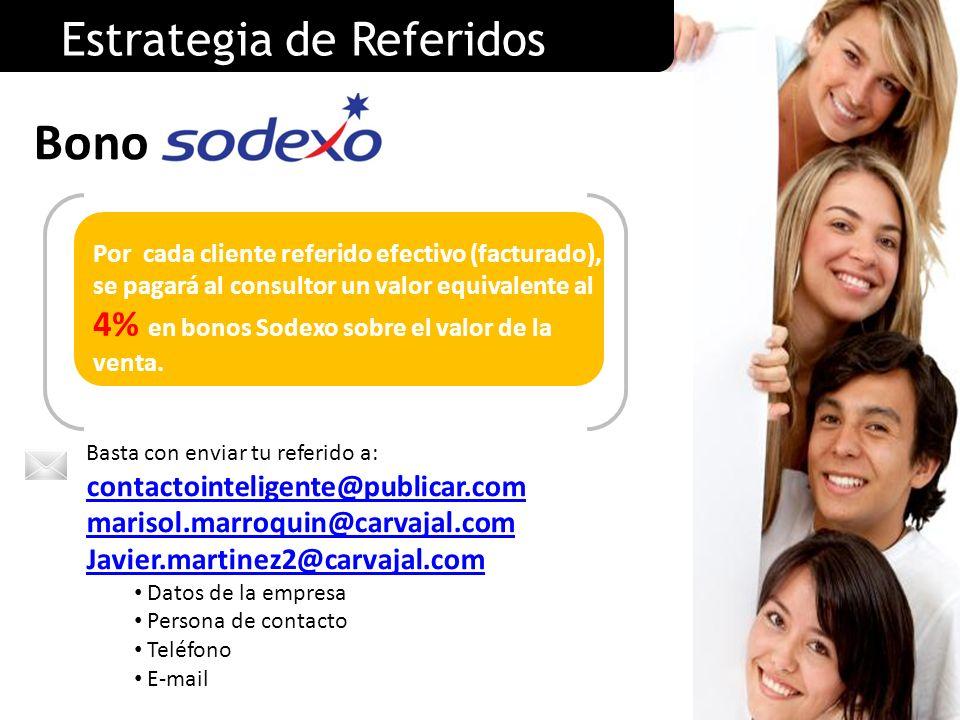 Bono Estrategia de Referidos contactointeligente@publicar.com