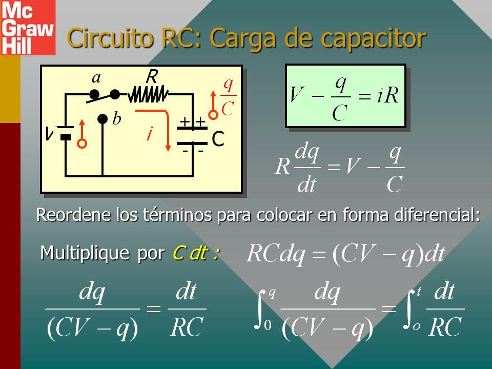 Circuito RC: Carga de capacitor