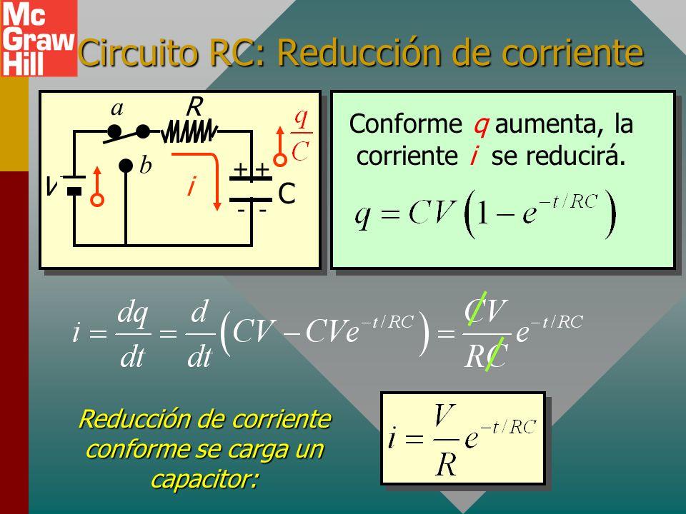 Circuito RC: Reducción de corriente
