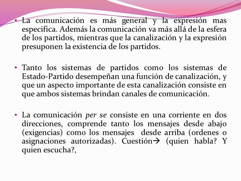 La comunicación es más general y la expresión mas especifica