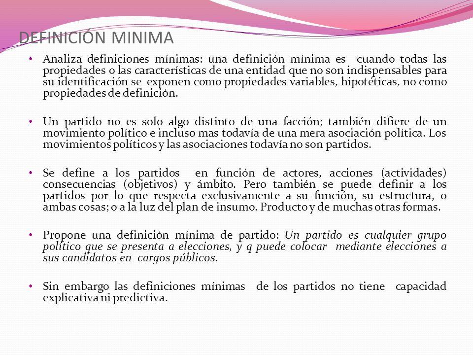 DEFINICIÓN MINIMA