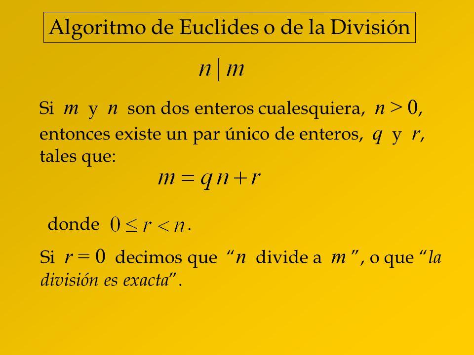 Algoritmo de Euclides o de la División