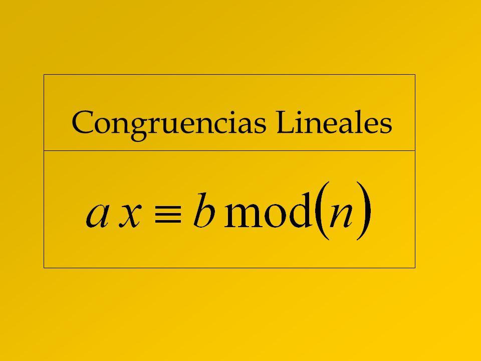 Congruencias Lineales