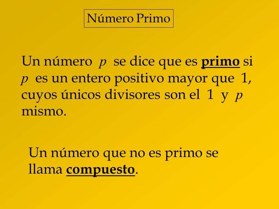 Un número que no es primo se llama compuesto.