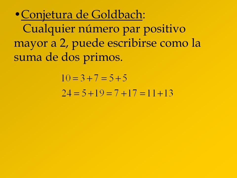 Conjetura de Goldbach: