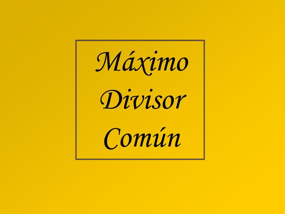 Máximo Divisor Común