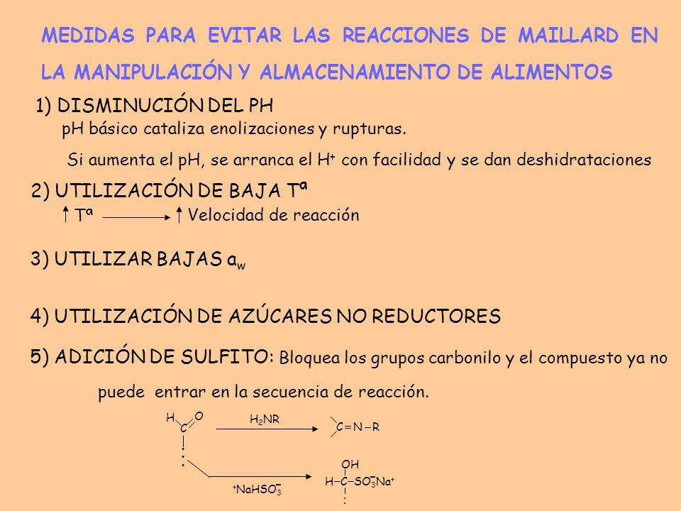 2) UTILIZACIÓN DE BAJA Tª