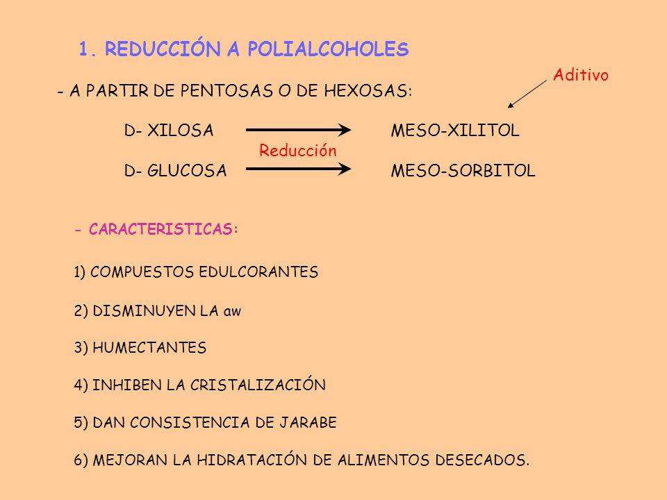 1. REDUCCIÓN A POLIALCOHOLES