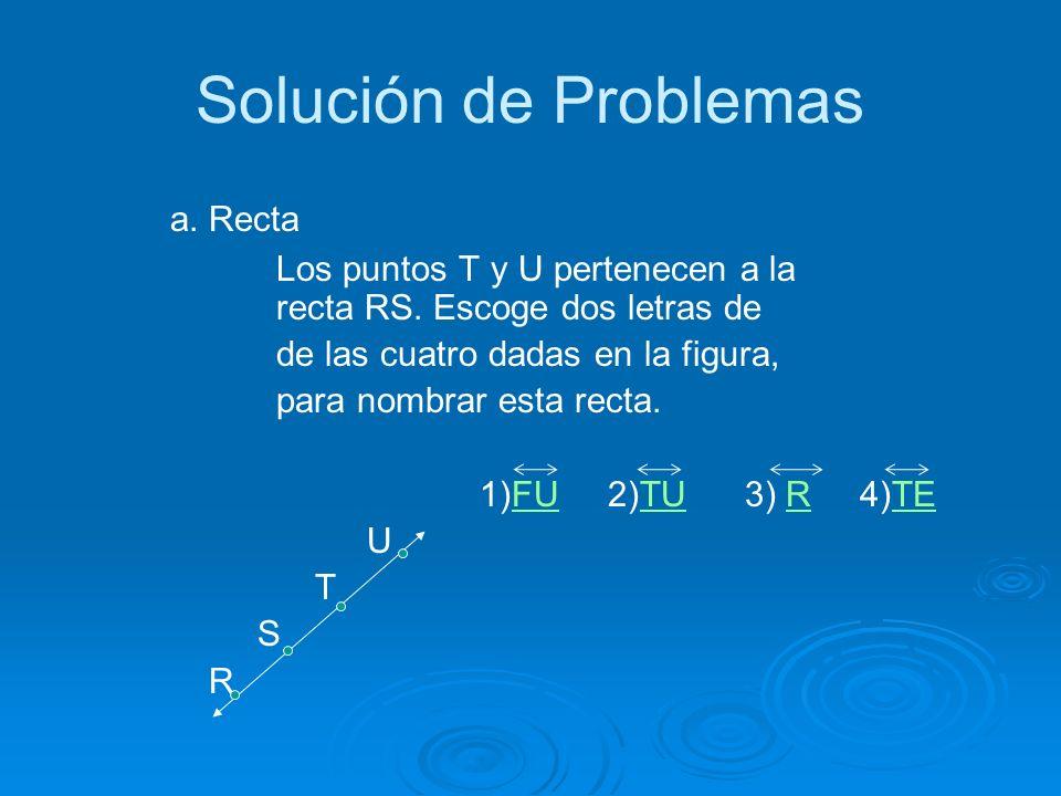 Solución de Problemas a. Recta