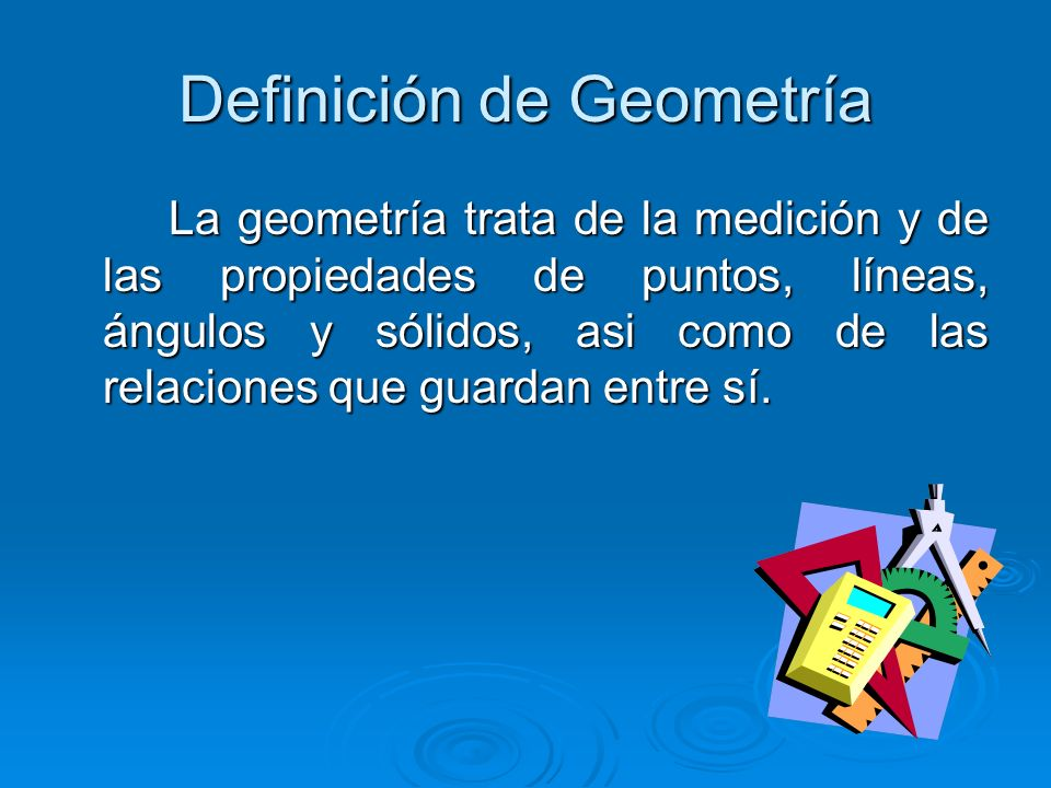 Definición de Geometría