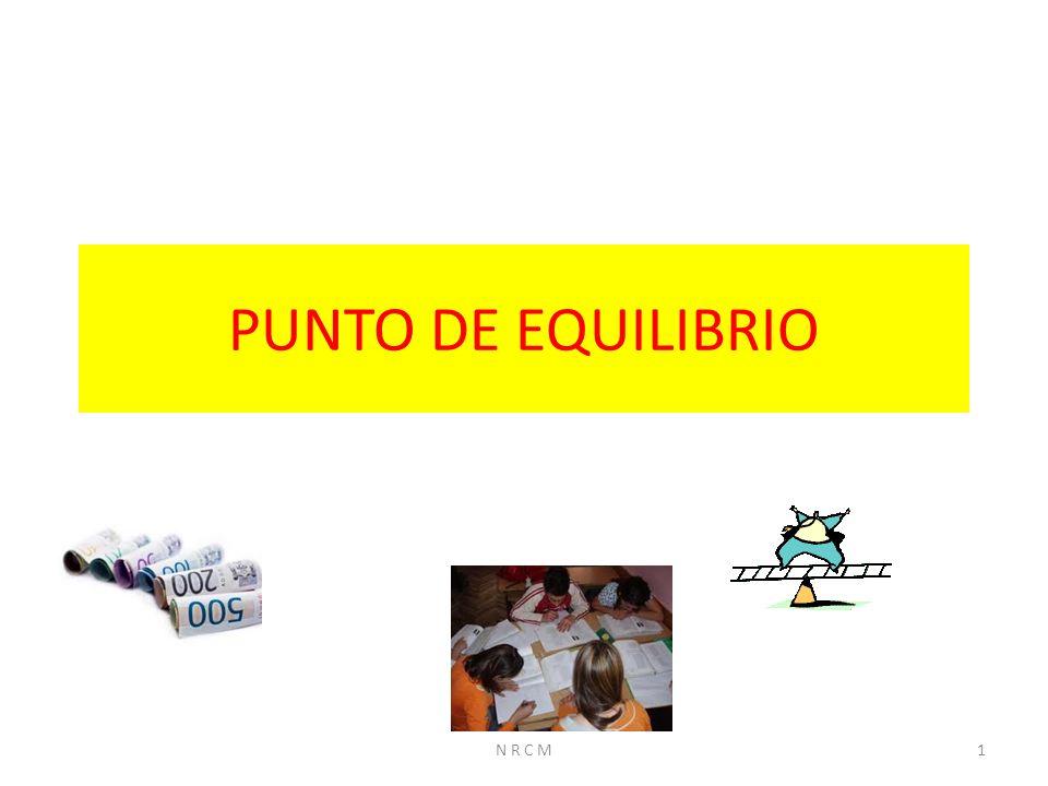 PUNTO DE EQUILIBRIO N R C M