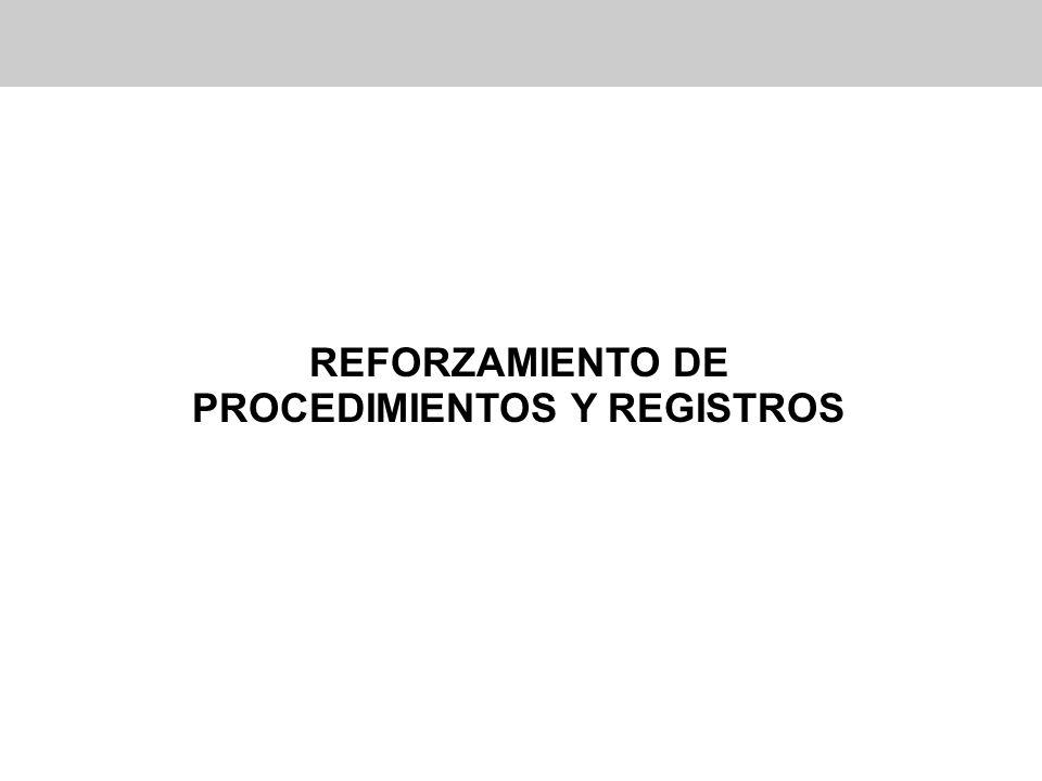 PROCEDIMIENTOS Y REGISTROS