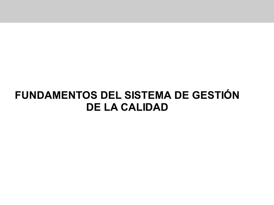 FUNDAMENTOS DEL SISTEMA DE GESTIÓN