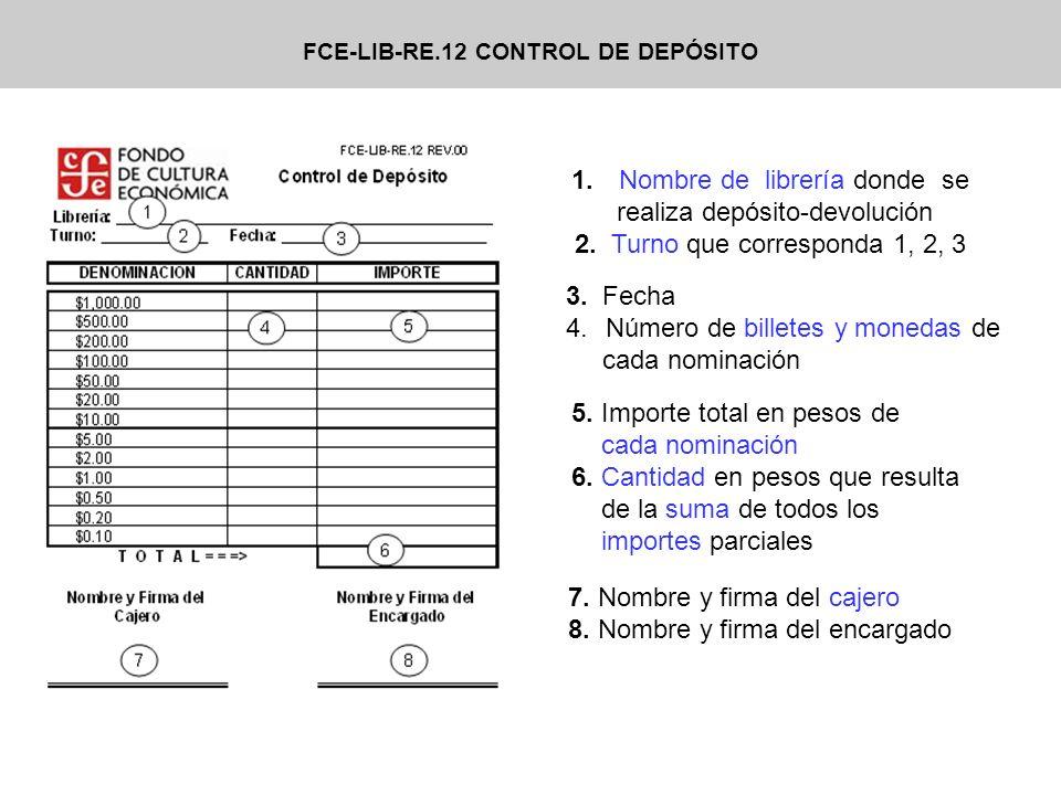 FCE-LIB-RE.12 CONTROL DE DEPÓSITO