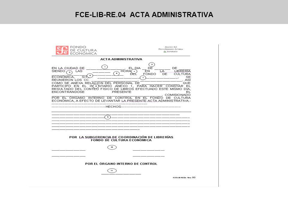FCE-LIB-RE.04 ACTA ADMINISTRATIVA