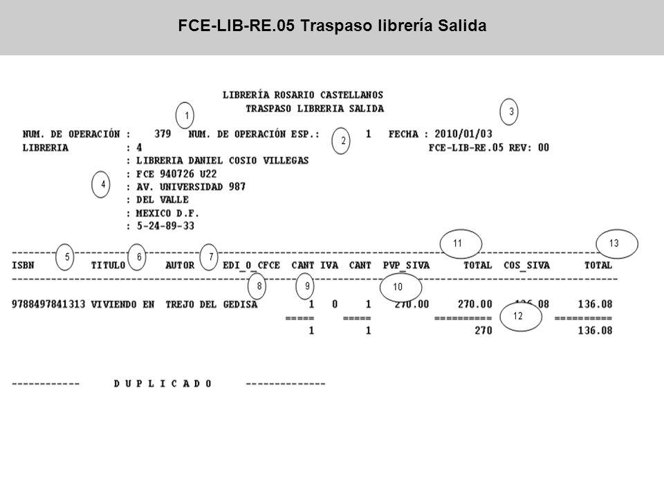 FCE-LIB-RE.05 Traspaso librería Salida