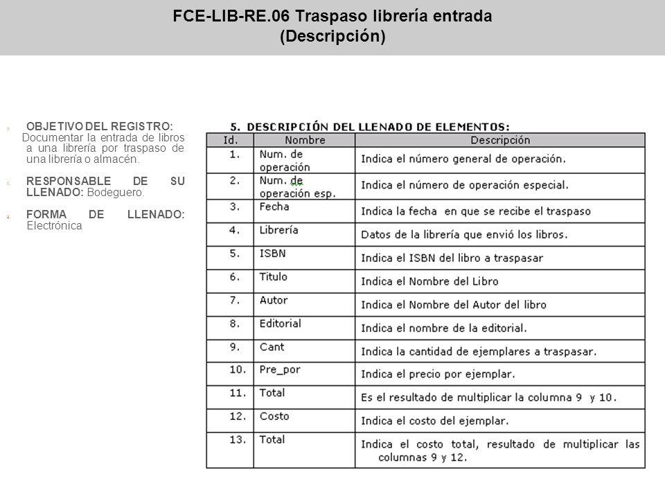 FCE-LIB-RE.06 Traspaso librería entrada (Descripción)