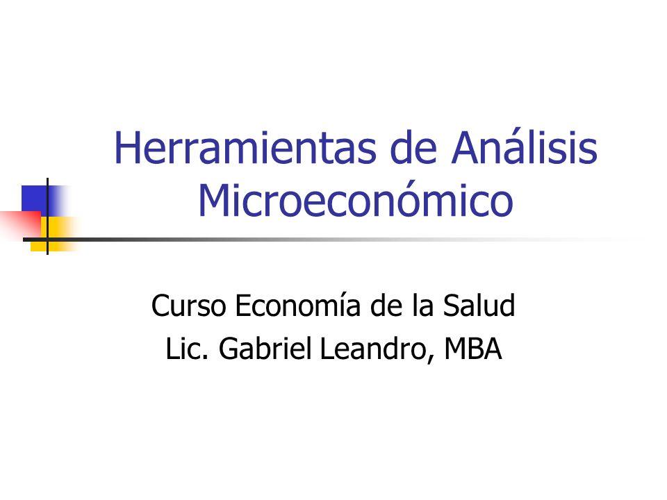 Herramientas de Análisis Microeconómico
