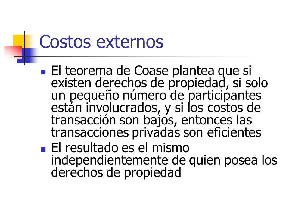 Costos externos