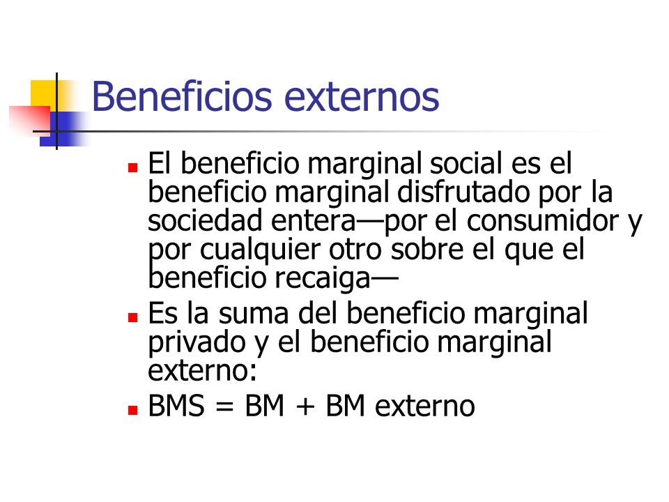 Beneficios externos