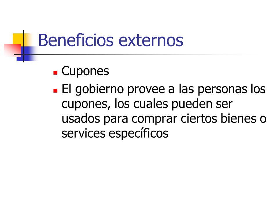 Beneficios externos Cupones