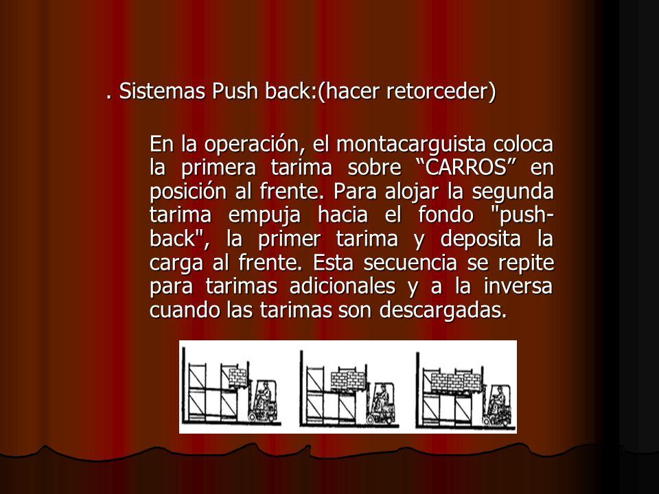 . Sistemas Push back:(hacer retorceder)
