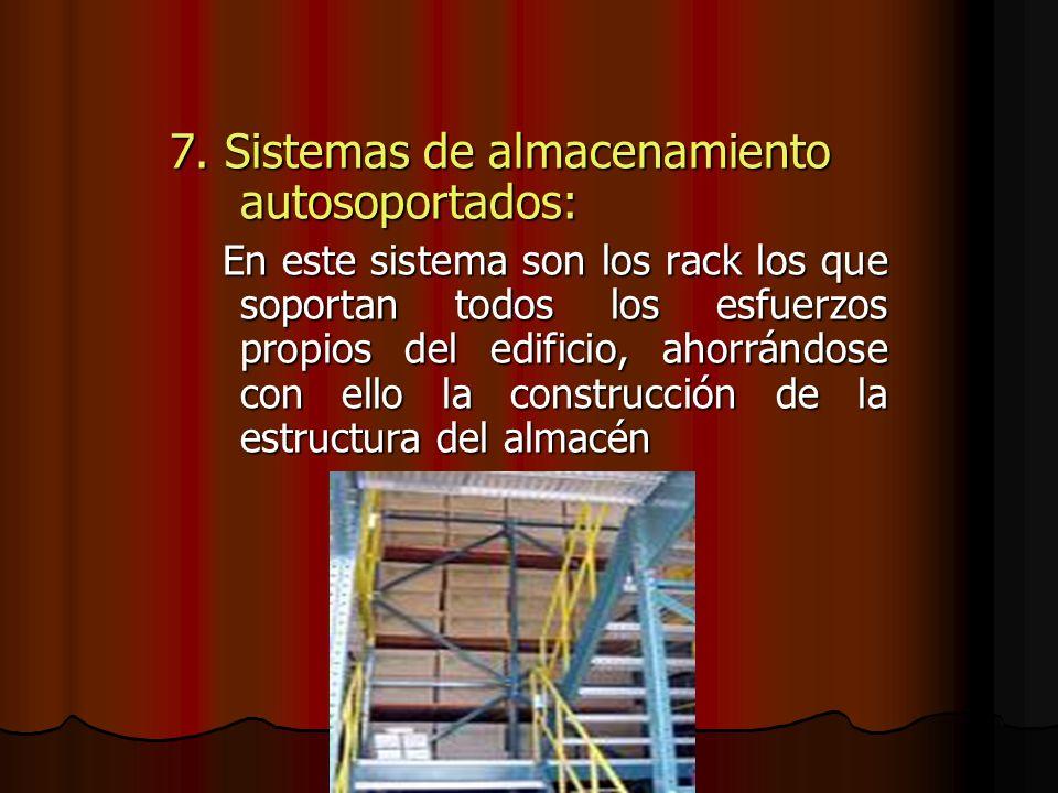 7. Sistemas de almacenamiento autosoportados: