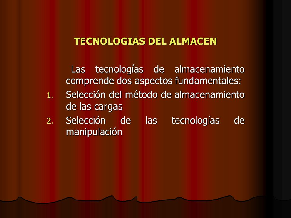 TECNOLOGIAS DEL ALMACEN