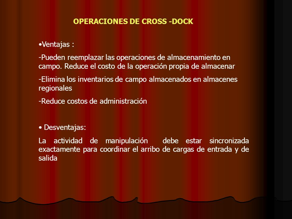 OPERACIONES DE CROSS -DOCK