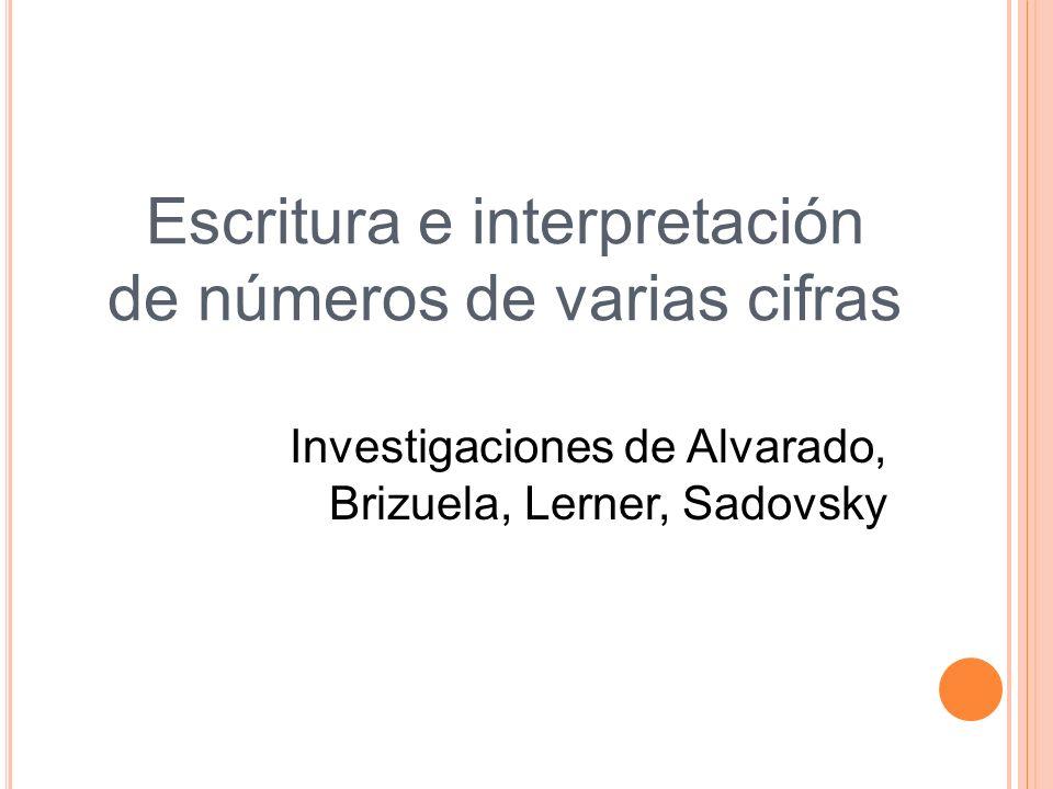 Escritura e interpretación de números de varias cifras