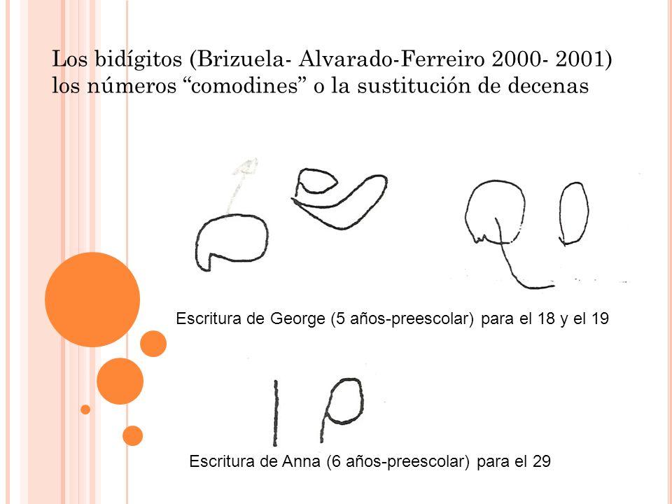 Los bidígitos (Brizuela- Alvarado-Ferreiro 2000- 2001) los números comodines o la sustitución de decenas