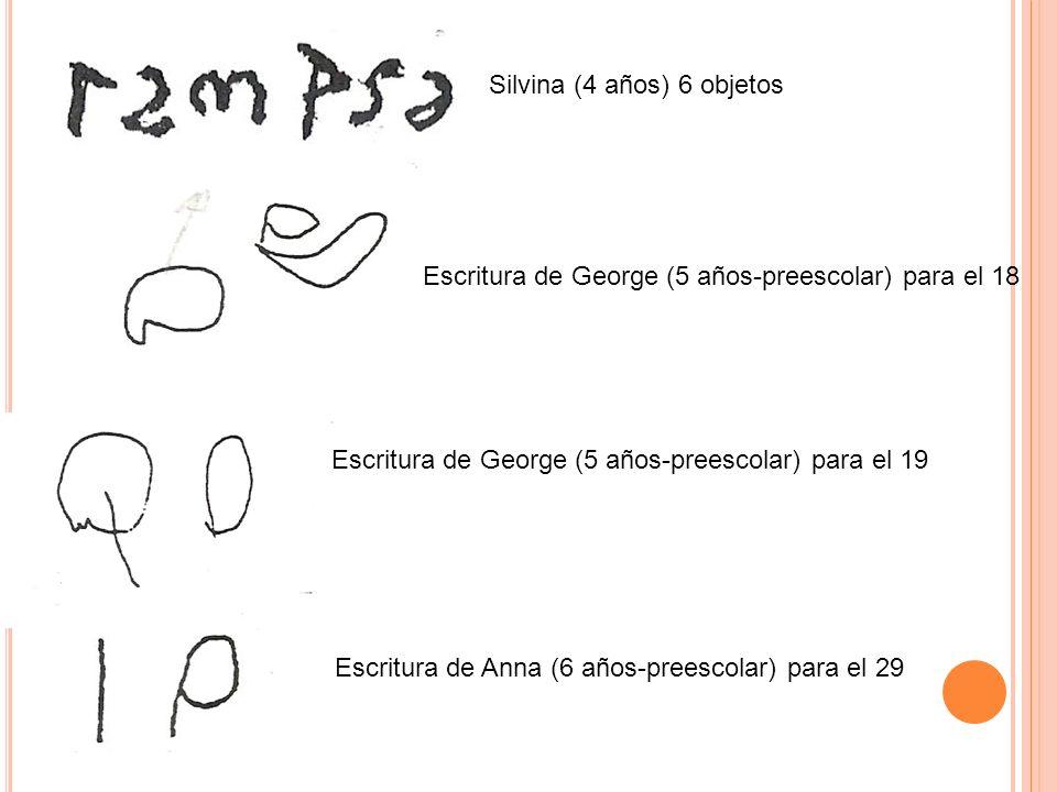 Silvina (4 años) 6 objetos