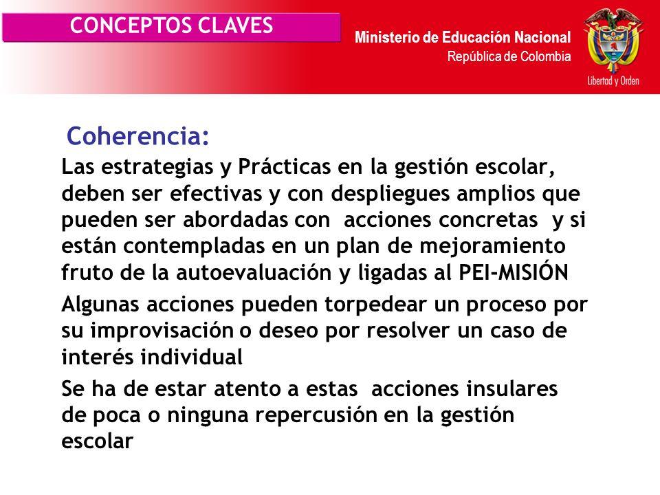 Coherencia: CONCEPTOS CLAVES