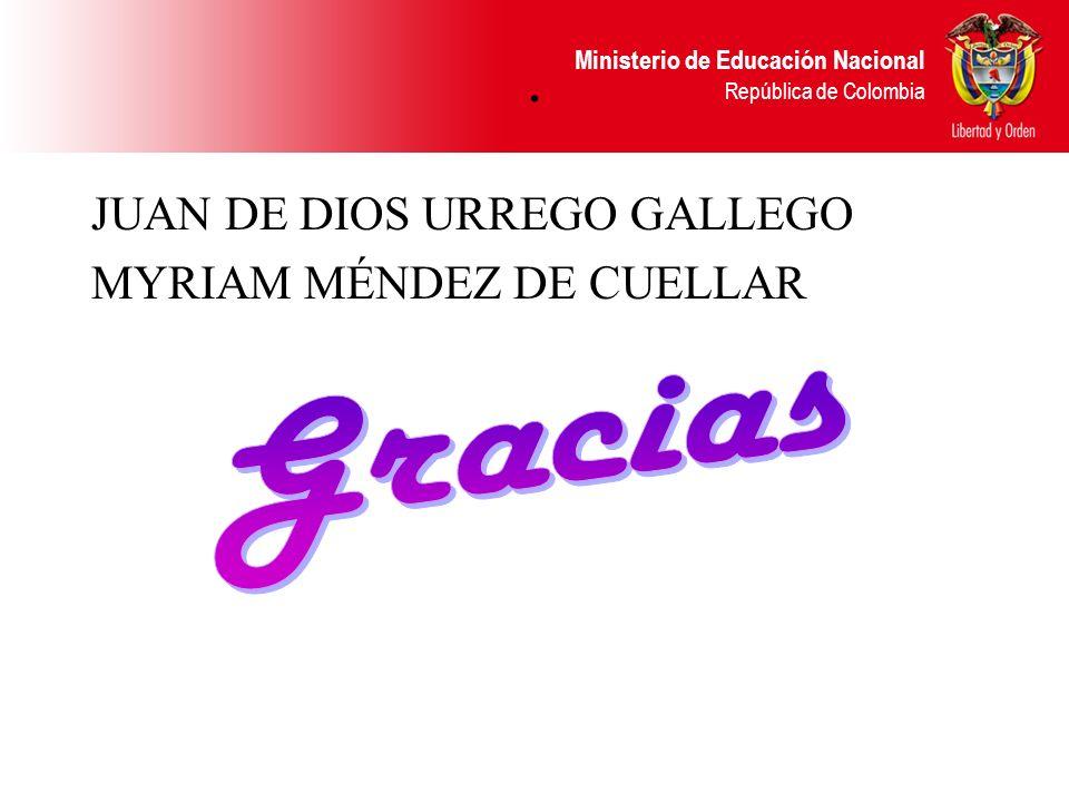 . JUAN DE DIOS URREGO GALLEGO MYRIAM MÉNDEZ DE CUELLAR Gracias