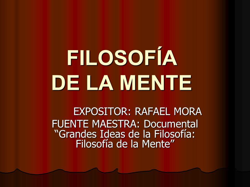 EXPOSITOR: RAFAEL MORA