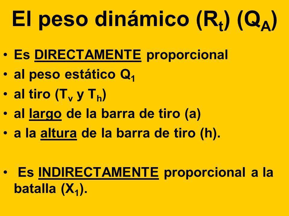 El peso dinámico (Rt) (QA)