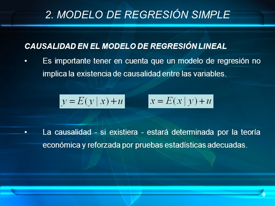 2. MODELO DE REGRESIÓN SIMPLE