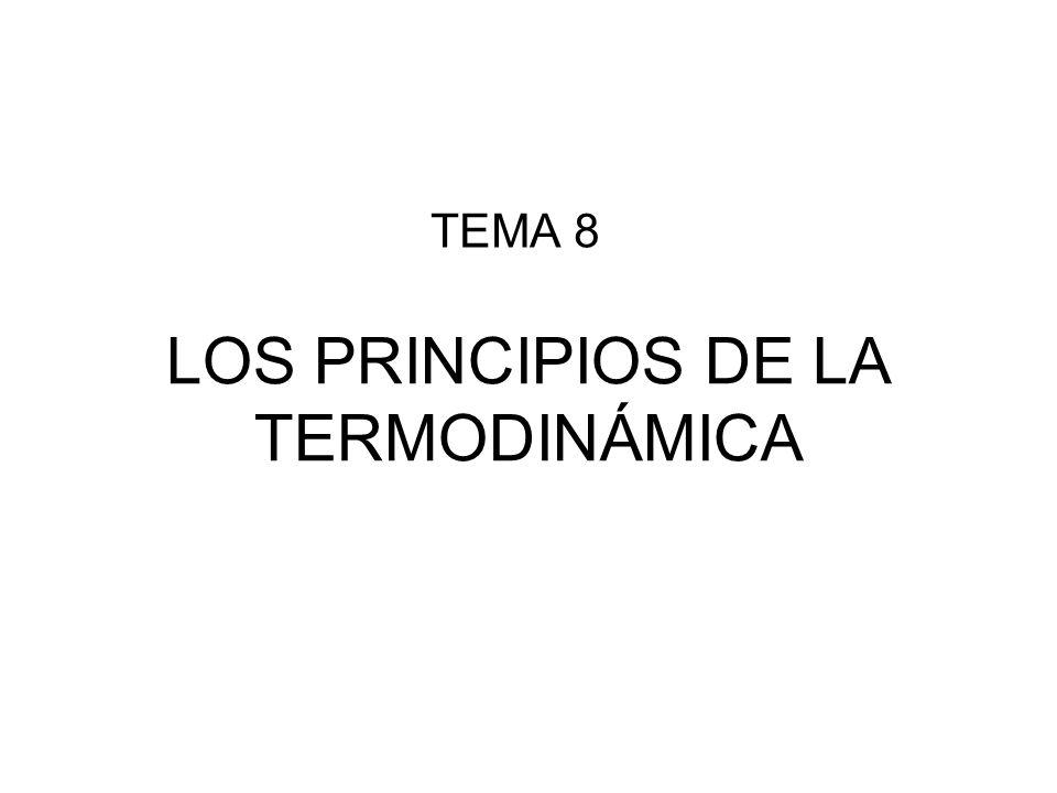 LOS PRINCIPIOS DE LA TERMODINÁMICA