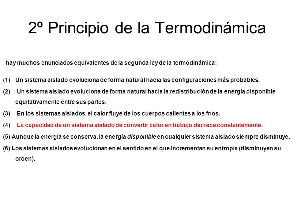 2º Principio de la Termodinámica