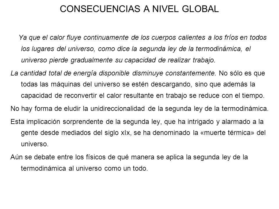 CONSECUENCIAS A NIVEL GLOBAL