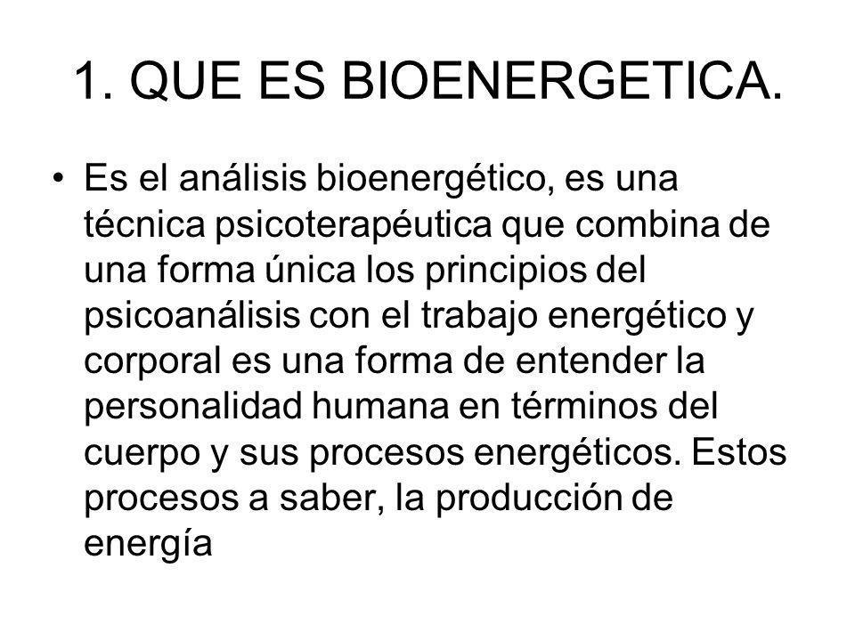 1. QUE ES BIOENERGETICA.