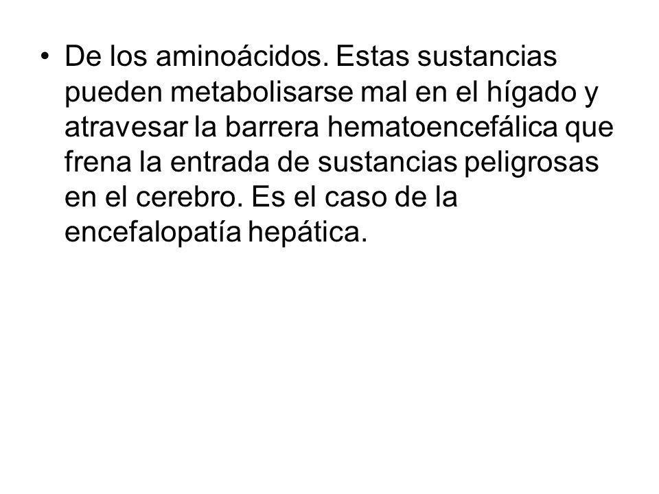 De los aminoácidos.