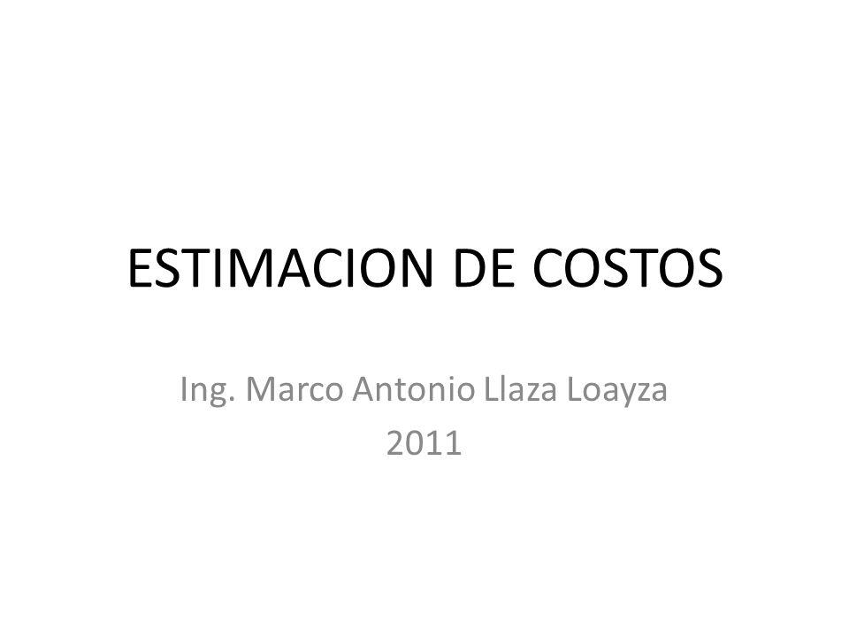 Ing. Marco Antonio Llaza Loayza 2011